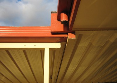 Flat roof verandah in Classic Cream with Terracotta Hallett Cove