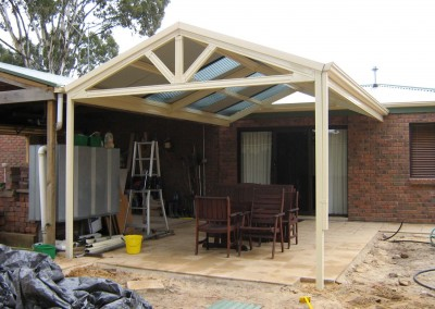 Gable pitched patio attached to house, Classic Cream, Aberfoyle Park