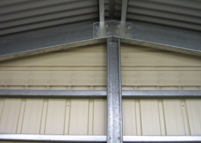 Gable truss and end column for 6m wide garage Smooth Cream 150 C Section Old Reynella