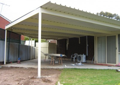 Large span Hi-Rib profile flat roof verandah Sellicks Beach