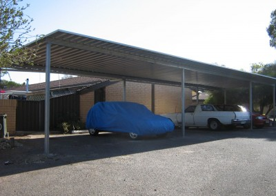 Multiple cars steel carport,  Zincalume, Port Noarlunga South