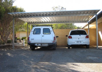 Two car carport, Zincalume, Port Noarlunga South