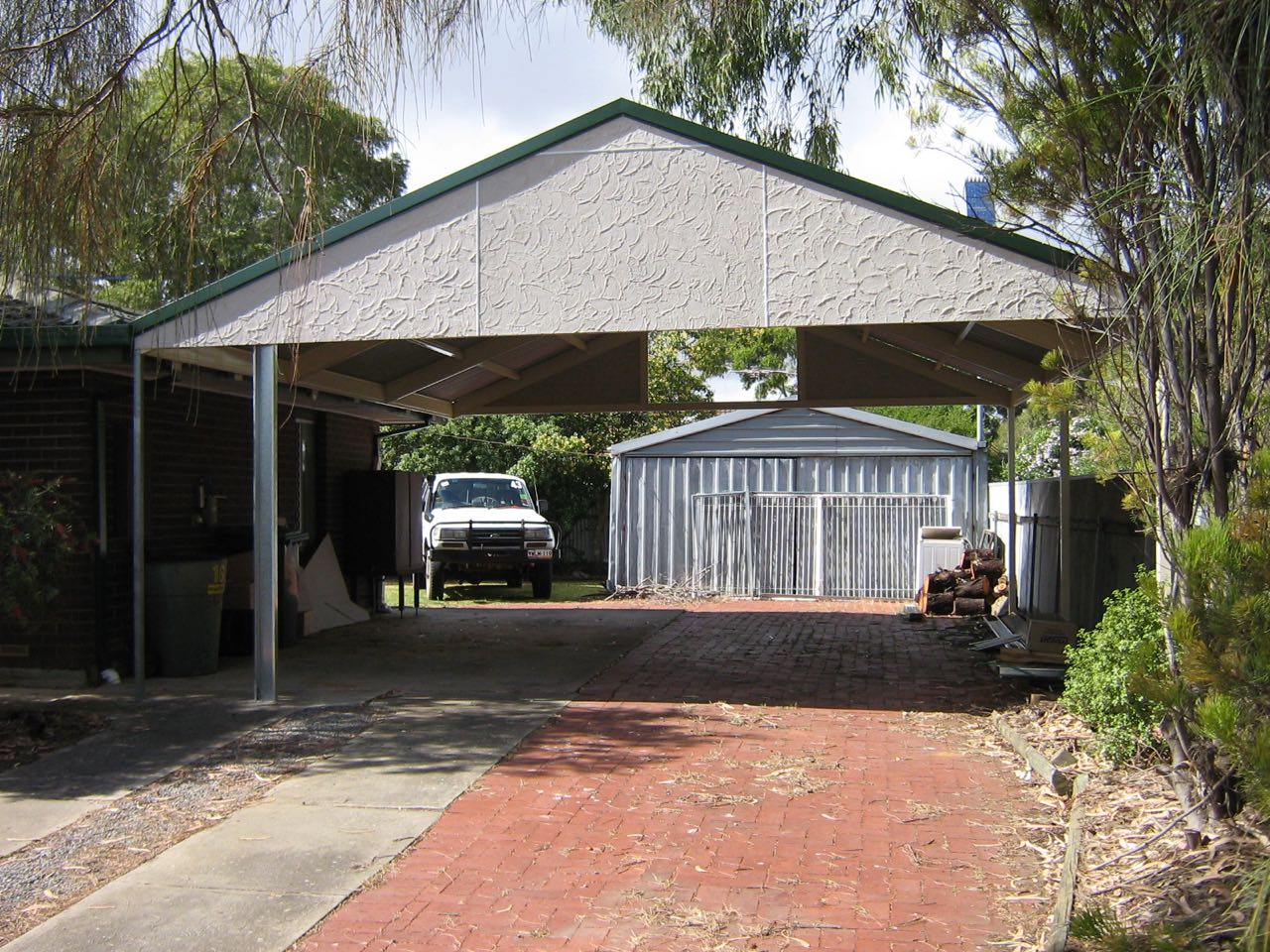 Carports and verandahs made from quality colourbond steel for Gable roof carport